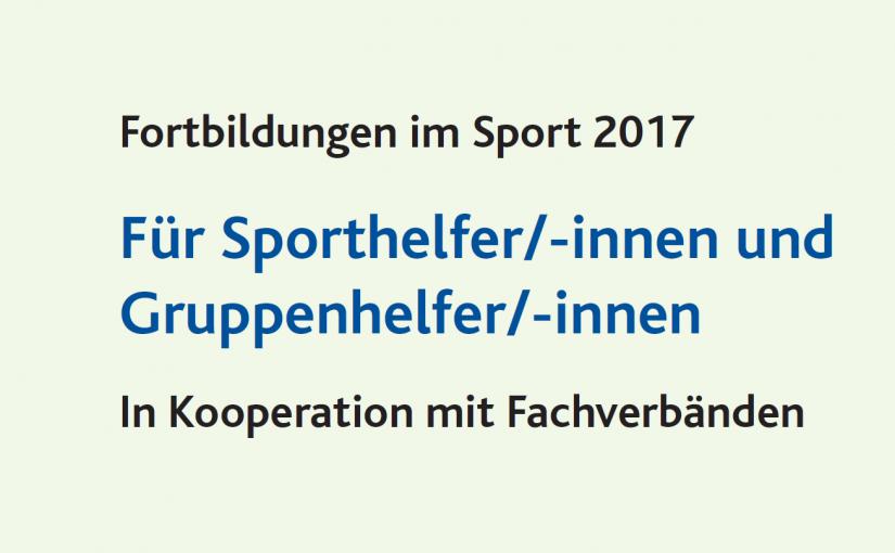 Fortbildungen im Sport 2017