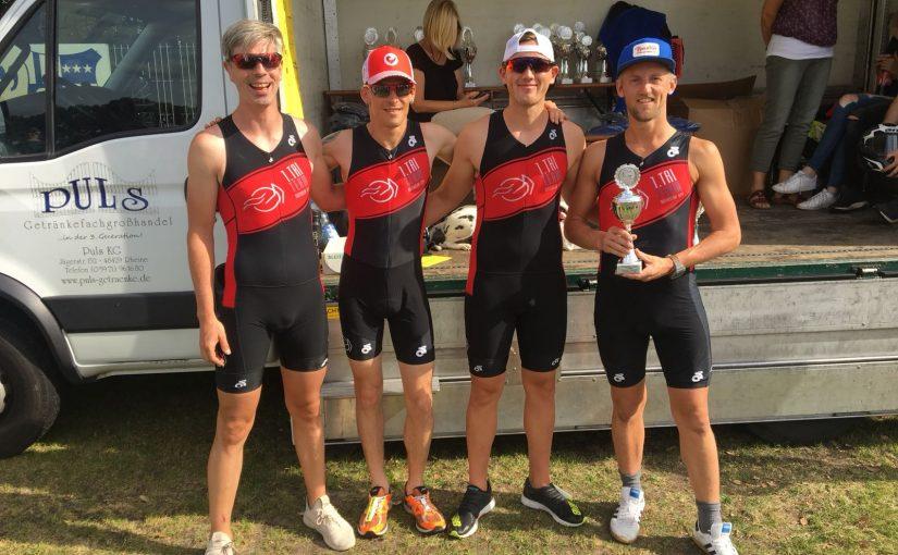 Gütersloher Tri-Team wieder auf dem Podium beim Channel-Triathlon in Rheine